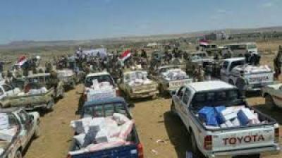 التحالف يمنع دخول قافلة مساعدات غذائية وإغاثية لمدينة الدريهمي