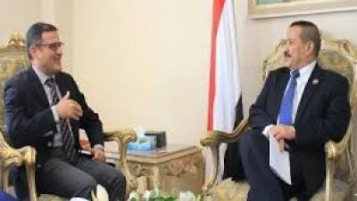 وزير الخارجية يلتقي الممثل المقيم لبرنامج الأمم المتحدة الإنمائي